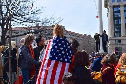 Protest, Flag, Demonstration, People, Symbol, Political