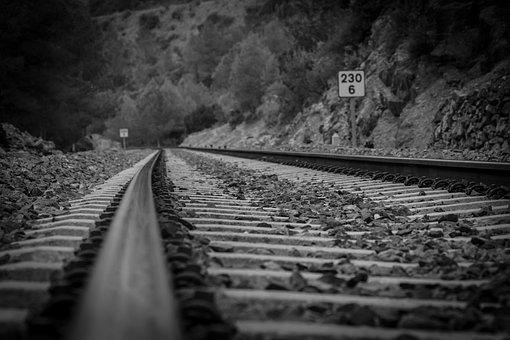 Railway Line, Railway, Train, Transport, To Train