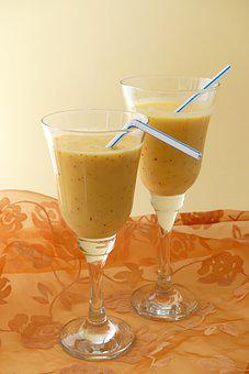 Drink, Glass, Refreshment, Dessert, Food, Liquid