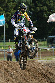 Motorcycle, Rush, Competition, Sports, Action, Jump