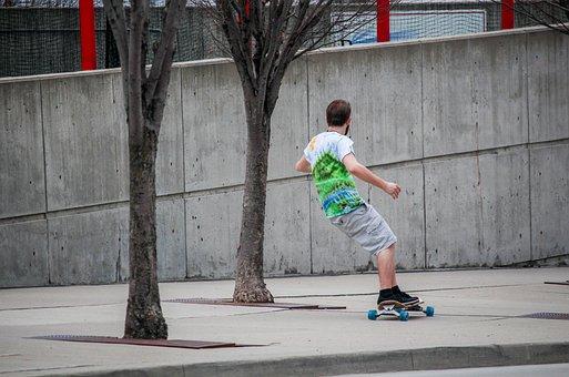 Skateboard, People, Skate, Adult, Child, Boy, Exercise