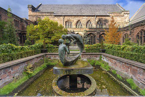 Chester Cathedral, Architecture, Statue Old, Travel