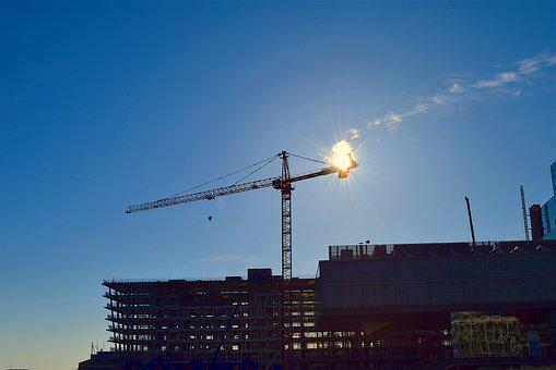 Crane, Sky, Sun, Architecture, Water, City, Travel
