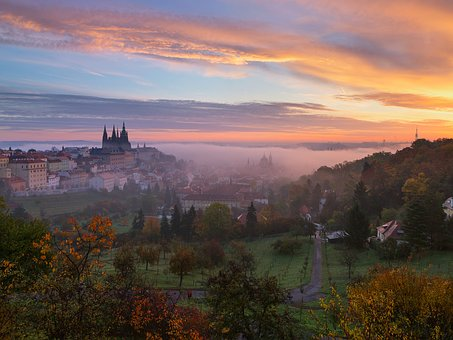 Sunrise, Dawn, Nature, Prague, Travel, Easter Morning