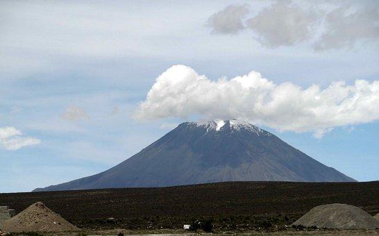 Volcano, Mountain, Landscape, Sky, Nature