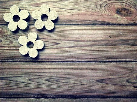 Vintage, Mother's Day, Tinkering, Wood, Flower