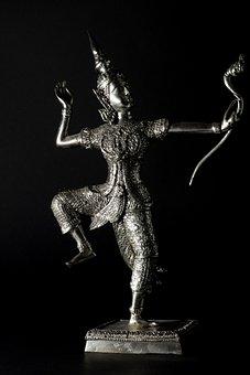 Sculpture, Warrior, Archer