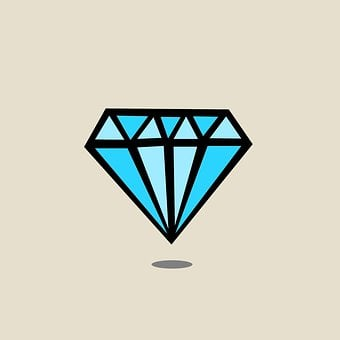 Diamond, Diamond Drawn, Gem, Blue, Valuable, Expensive