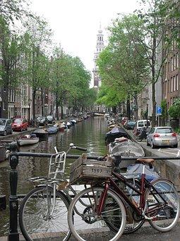Wheel, Street, City, Canal, Transportation System, Bike