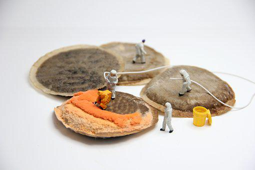 Coffee, Mold, Miniature Figures, Pad, Food, Poison