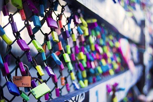 Color, Design Decorations, Light, Art, Purple, Lock
