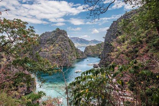 Water, Tropical, Lagoon, Island, Travel, Coron, Palawan
