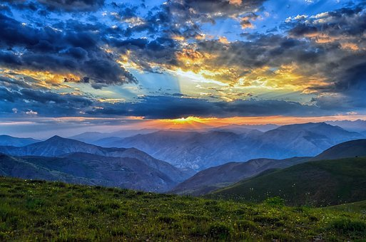 Sunset, Dawn, Nature, Mountain, Turkey, Landscape