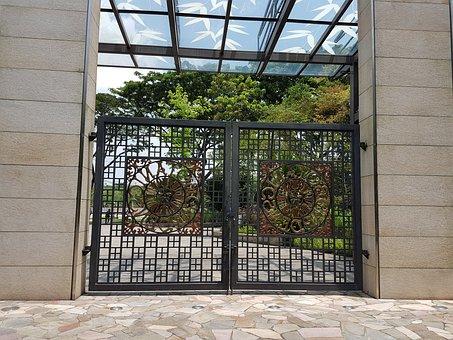 Architecture, House, Entrance, Door, Wall, Facade