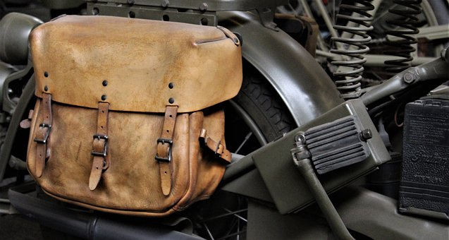 Equipment, Vehicle, Old, Military, Saddle Bag