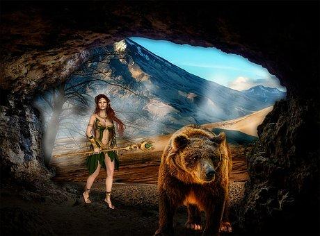 Woman, Elf, Fairy, Fantasy, Female, Magic, Elfin, Cave