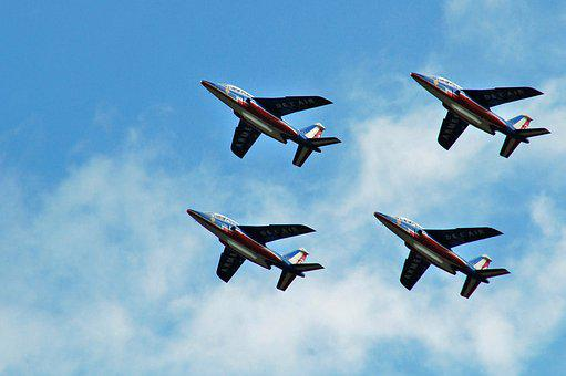 Plane, Aircraft, Flight, Airshow, Formation, Fly