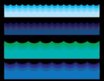 Water Border, Water, Waves, Ocean, Sea, Frame