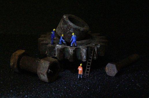Industry, Mechanics, Miniature Figures, Human, Adult