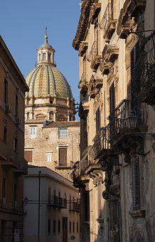 Palermo, Sicily, Italy, Church, The Dome, Architecture