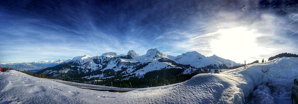 Snow, Panoramic, Mountain, Panorama, Landscape, Nature