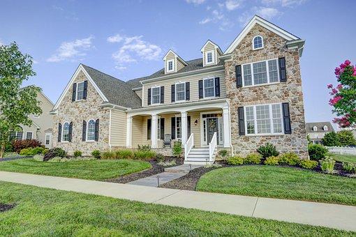 Lawn, House, Driveway, Suburb, Entrance, Hdr