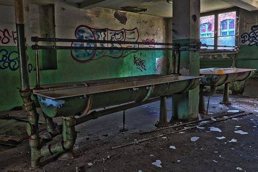 Leave, Industry, Graffiti, Within, Bathroom Sink