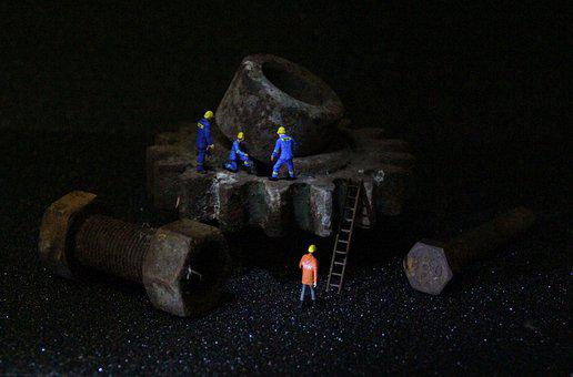 Industry, Mechanics, Miniature Figures, Human, Adult
