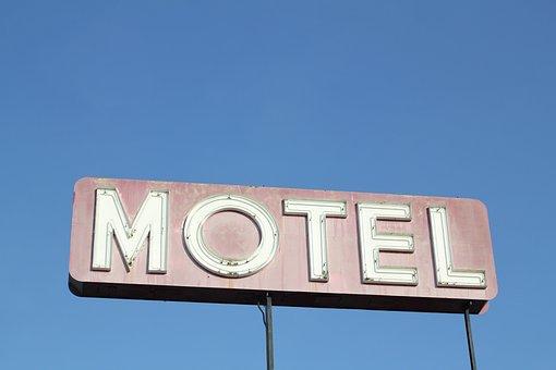 Motel, Sign, Vintage, Typography, Travel, Retro, Hotel