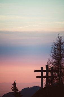 Sunset, Nature, Outdoors, Sky, Fog, Mountain, Sun