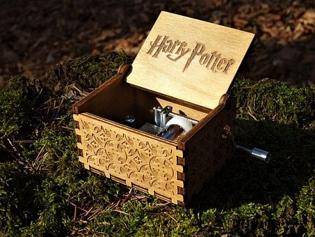 Harry Potter, Music Spielbox, Wood, Retro, Melody