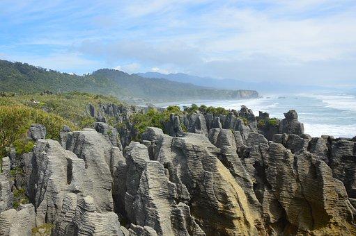 Pancake Rocks, New Zealand, South Island, Nature, Rock