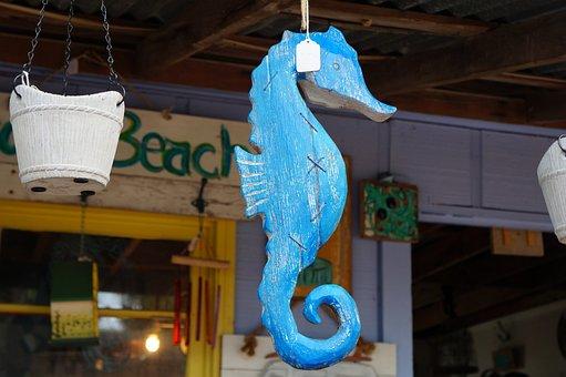 Nautical Decor, Sea Horse, Ocean, Shopping