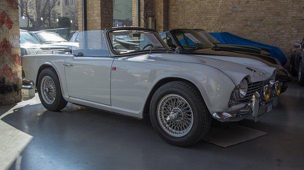 Auto, Triumph, Oldtimer, Cabriolet, English, Classic
