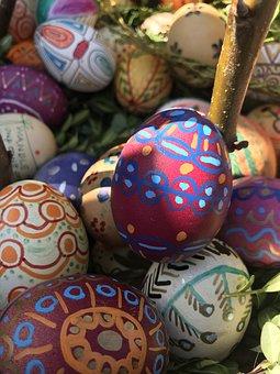 Easter, Egg, Ornament, A, Handmade, Basket