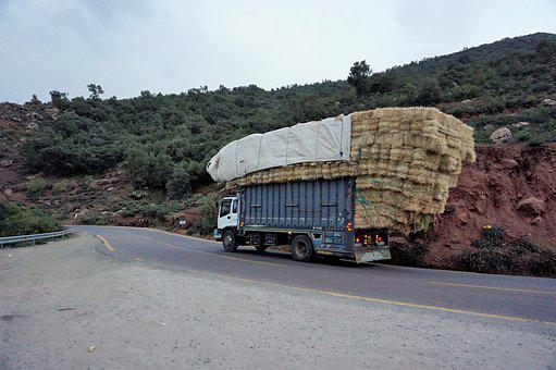 Trip, Road, Nature, Horizontal, Outdoors, Load, Straw