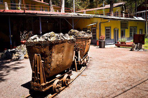 Old, Rusty, Mine, Gondola, Oxide, Metal, Mining, Steel