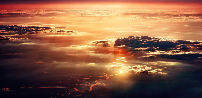 Clouds, Sunset, Sun, Dawn, Nature, Dusk, Landscape, Sky