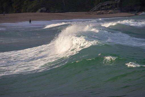 Water, Surf, Nature, Wave, Sea, Outdoors, Seashore