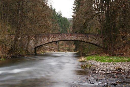Waters, Nature, River, Tree, Landscape, Autumn, Bridge