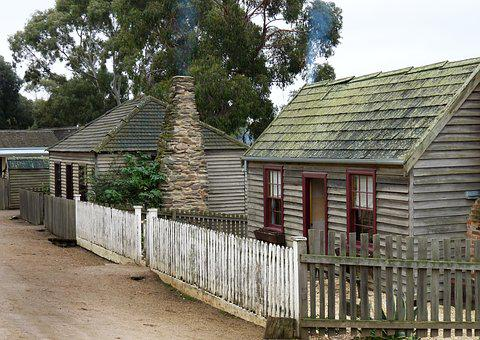 Early Australian, Miners Cottage, Architecture, Wooden