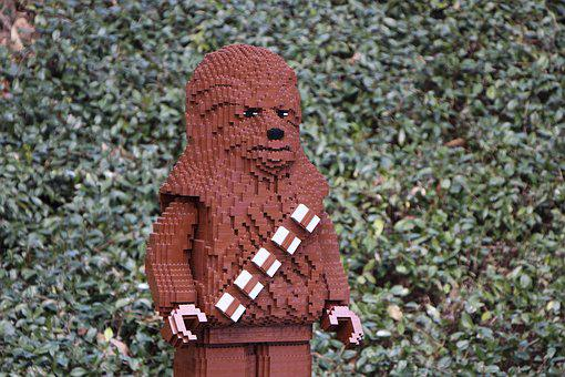 Outdoors, Nature, Lego, Chewbacca, Built, Brown