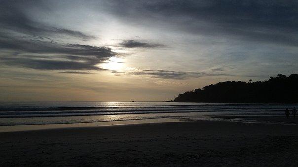 Sunset, Water, Nature, Dawn, Panoramic, Sea, Beach, Sun