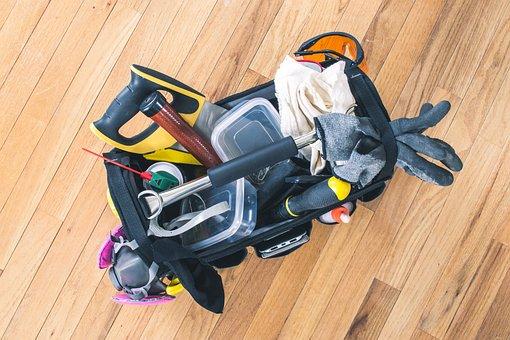 Wood, Carpenter, Equipment, Tools, Tool Bag, Toolkit