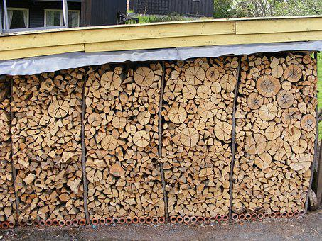 Logs, Firewood, Firewood Rack, Firewood Stack, Rustic