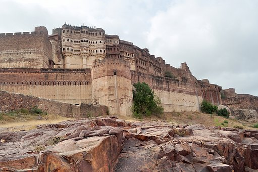 Fort, Castle, Jodhpur, India, Architecture, Royal