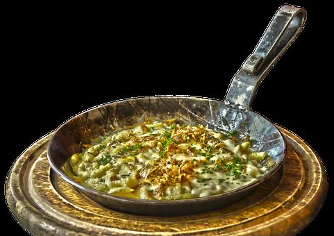 Pan, Spätzle, Noodle Dish, Cheese Noodles, Frying Pan