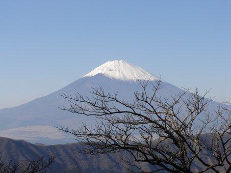 Snow, Mountain, Volcano, Sky, Nature, Japan, Fuji San