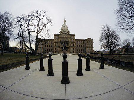Architecture, Outdoors, Capital, Lansing, Michigan
