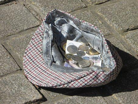 Busker, Hat, Money, Collection, Donation